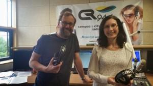 Andreas und Astrid beim Campus Radio
